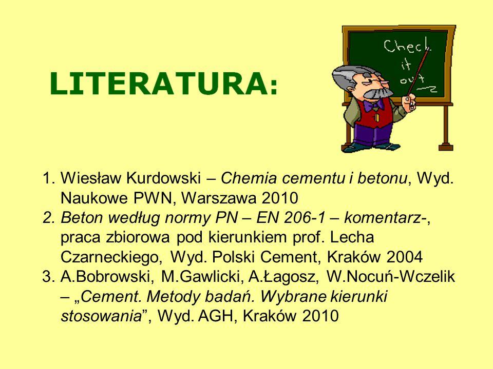 Wiesław Kurdowski – Chemia cementu i betonu, Wyd