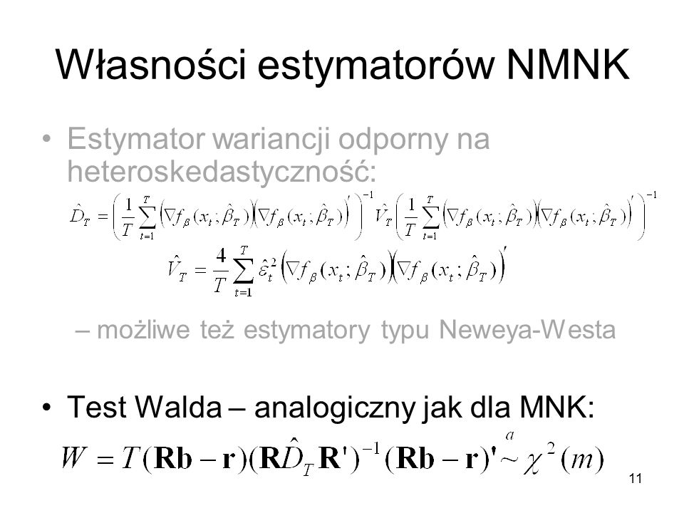 Własności estymatorów NMNK