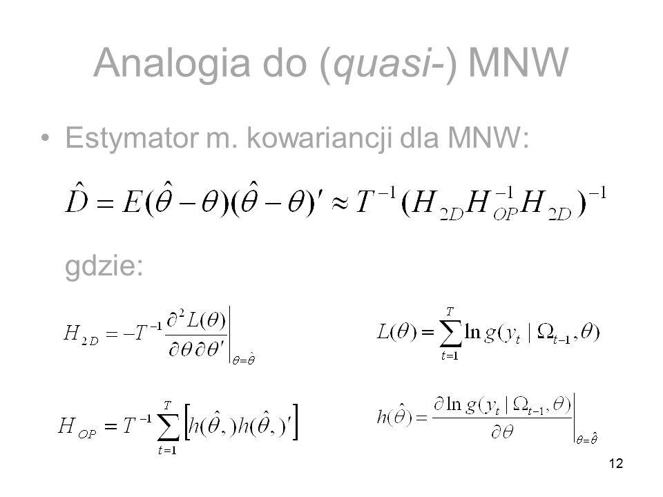 Analogia do (quasi-) MNW