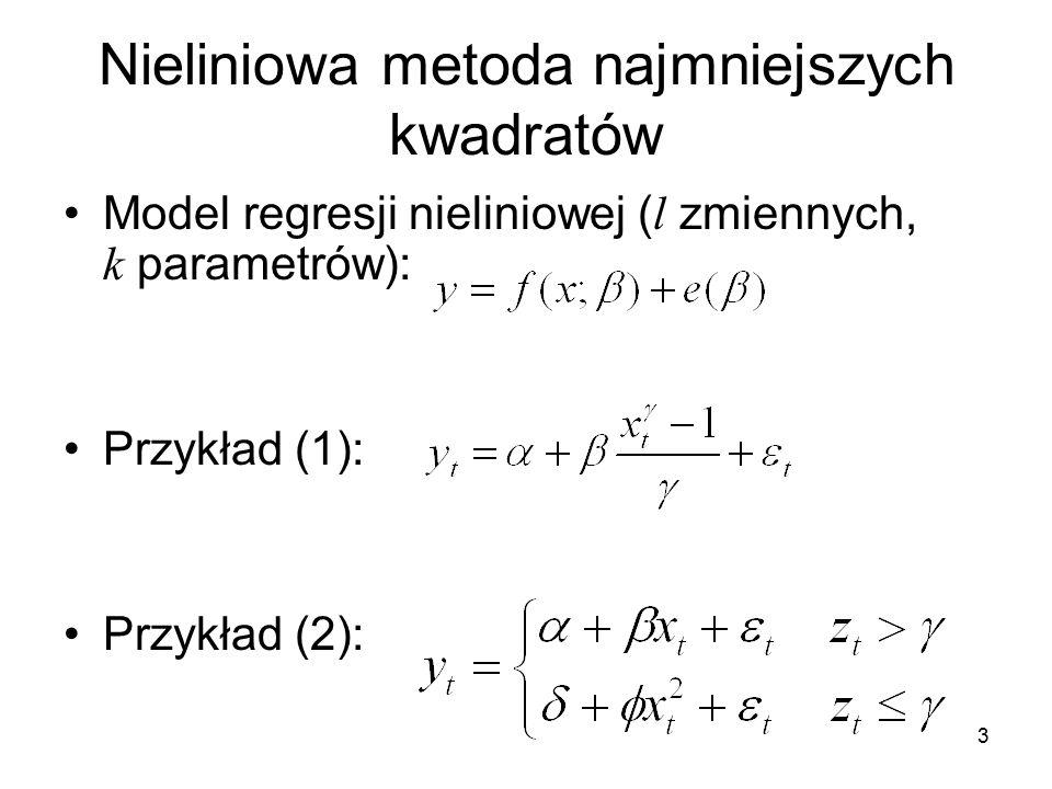 Nieliniowa metoda najmniejszych kwadratów