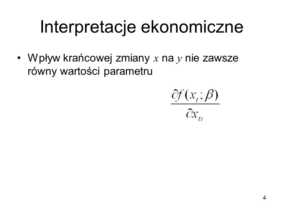 Interpretacje ekonomiczne