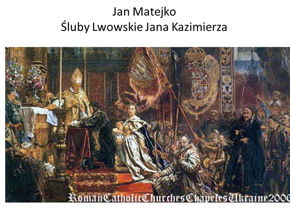 Jan Matejko Śluby Lwowskie Jana Kazimierza