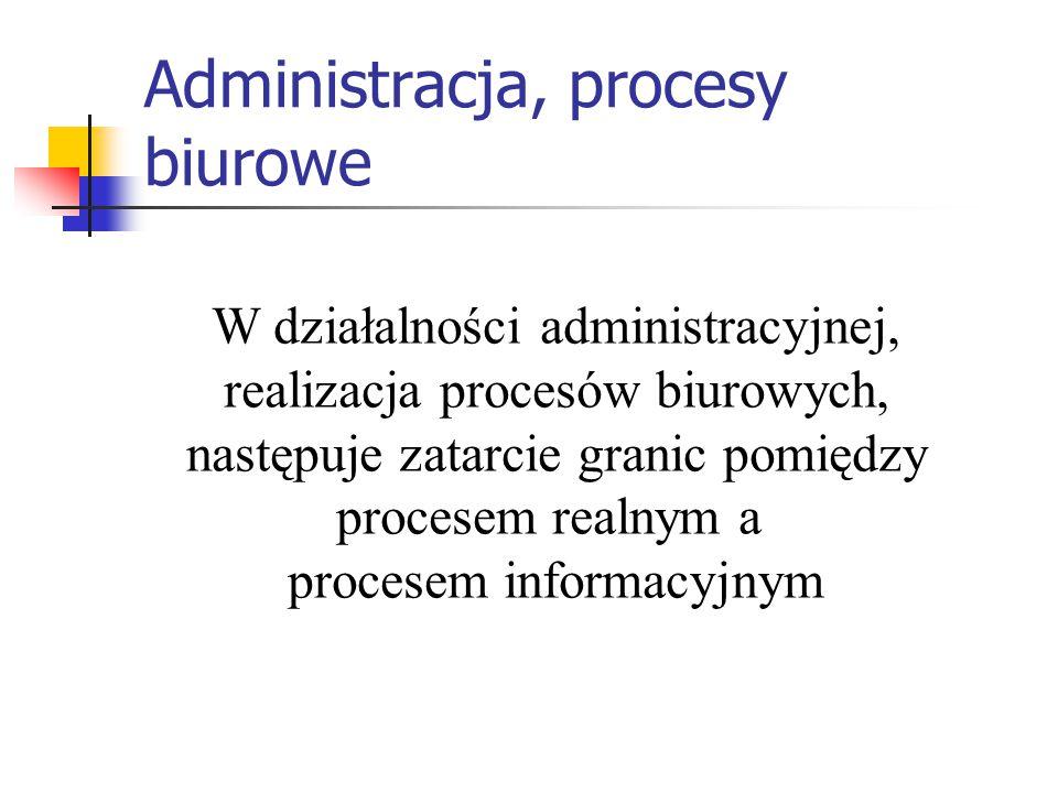 Administracja, procesy biurowe