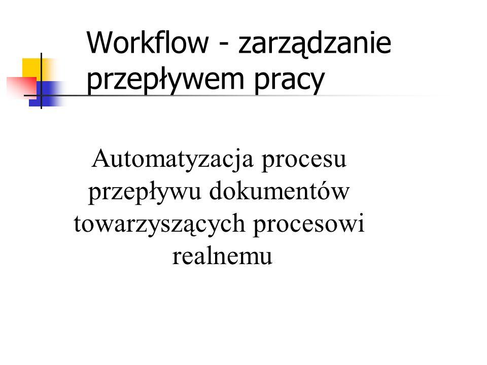 Workflow - zarządzanie przepływem pracy