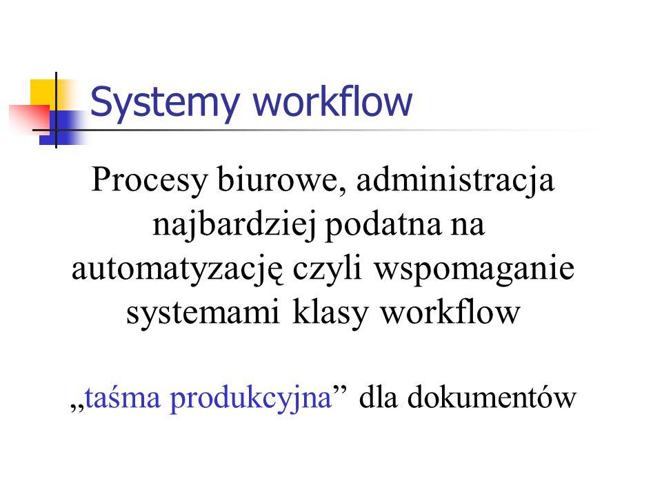 Systemy workflow Procesy biurowe, administracja najbardziej podatna na