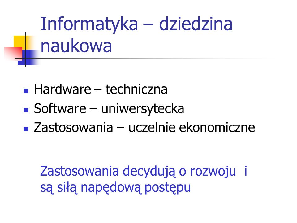Informatyka – dziedzina naukowa
