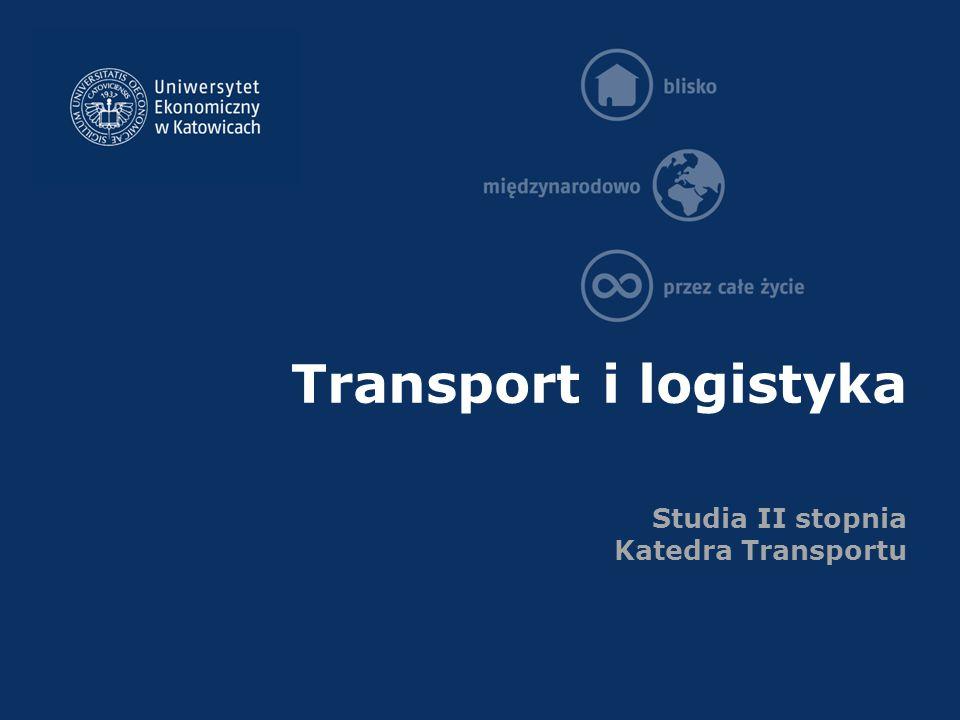 Transport i logistyka Studia II stopnia Katedra Transportu