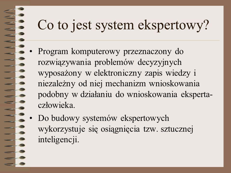 Co to jest system ekspertowy