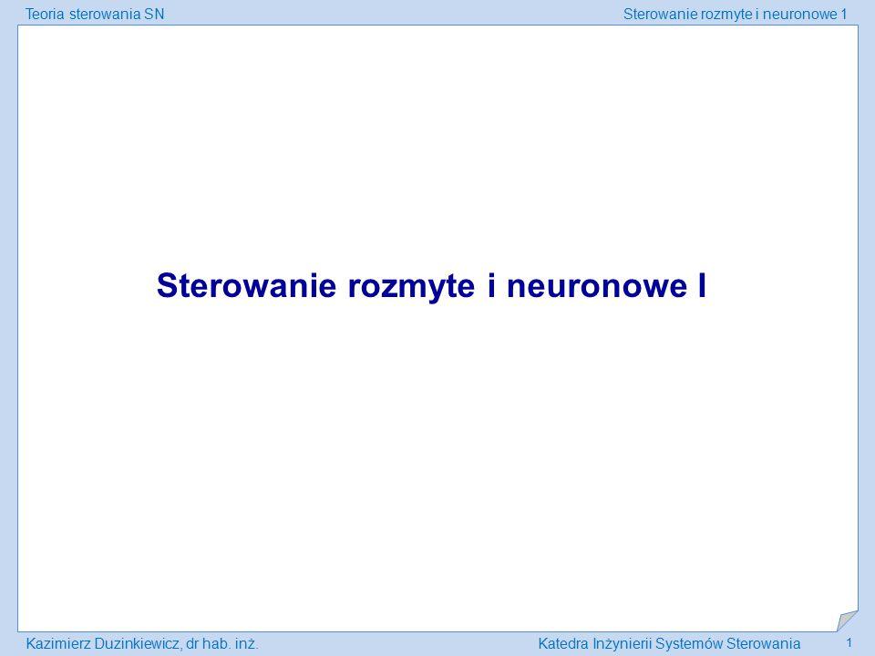 Sterowanie rozmyte i neuronowe I
