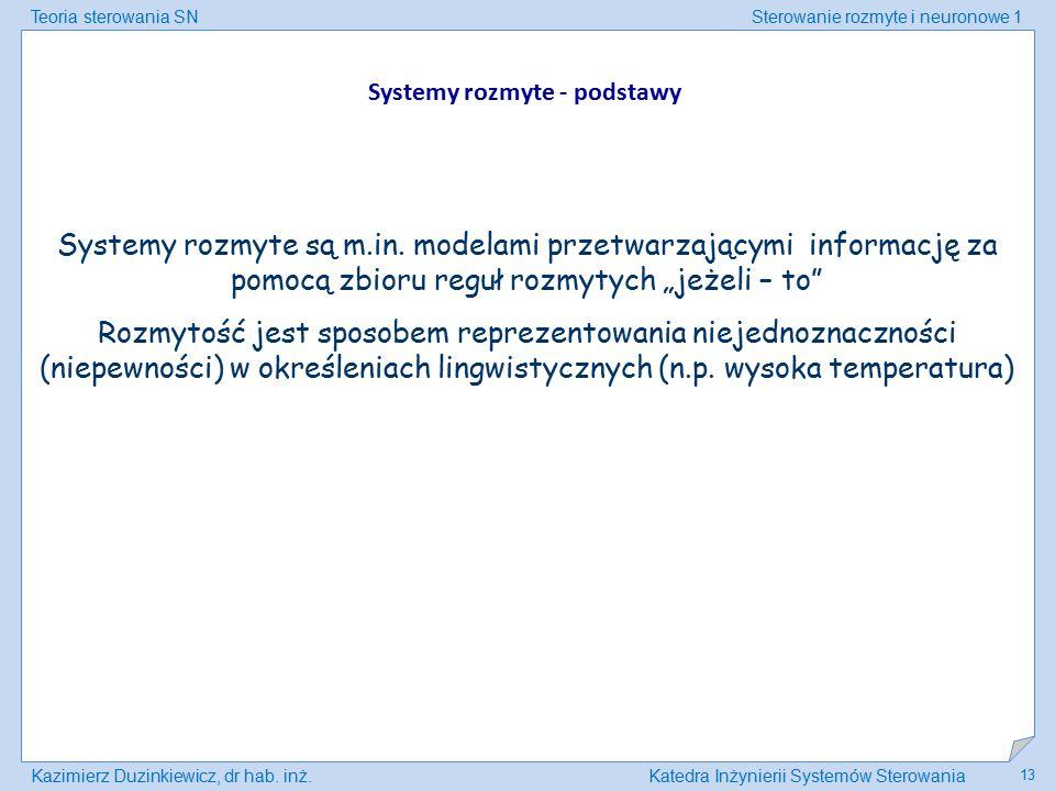 Systemy rozmyte - podstawy