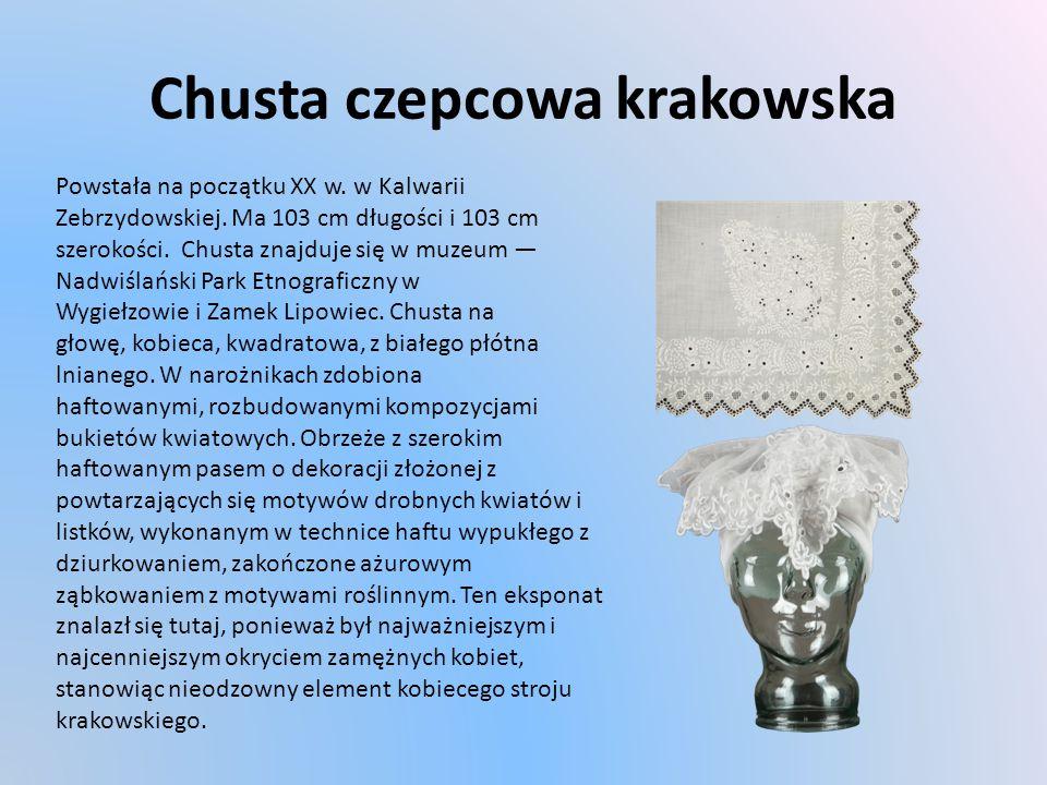 Chusta czepcowa krakowska