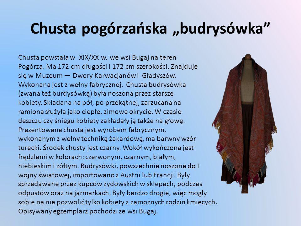 """Chusta pogórzańska """"budrysówka"""