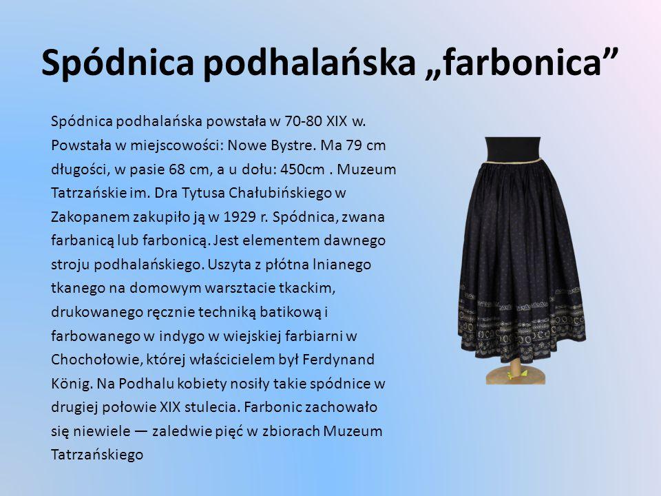 """Spódnica podhalańska """"farbonica"""