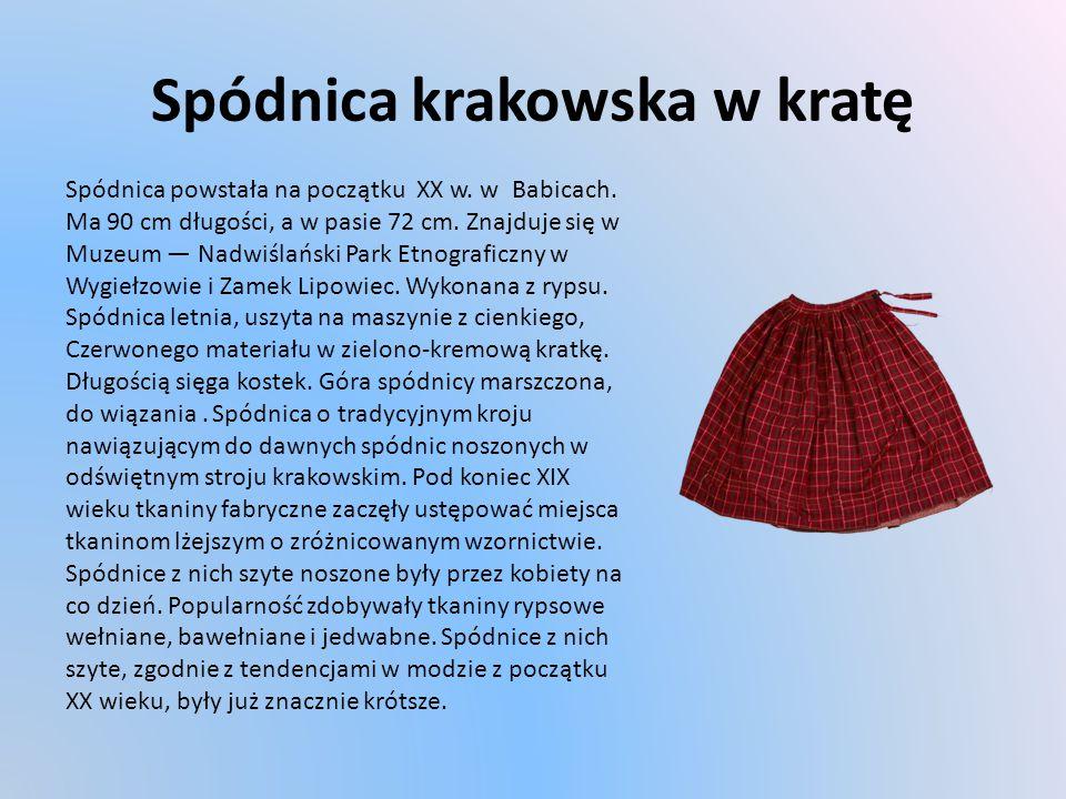 Spódnica krakowska w kratę