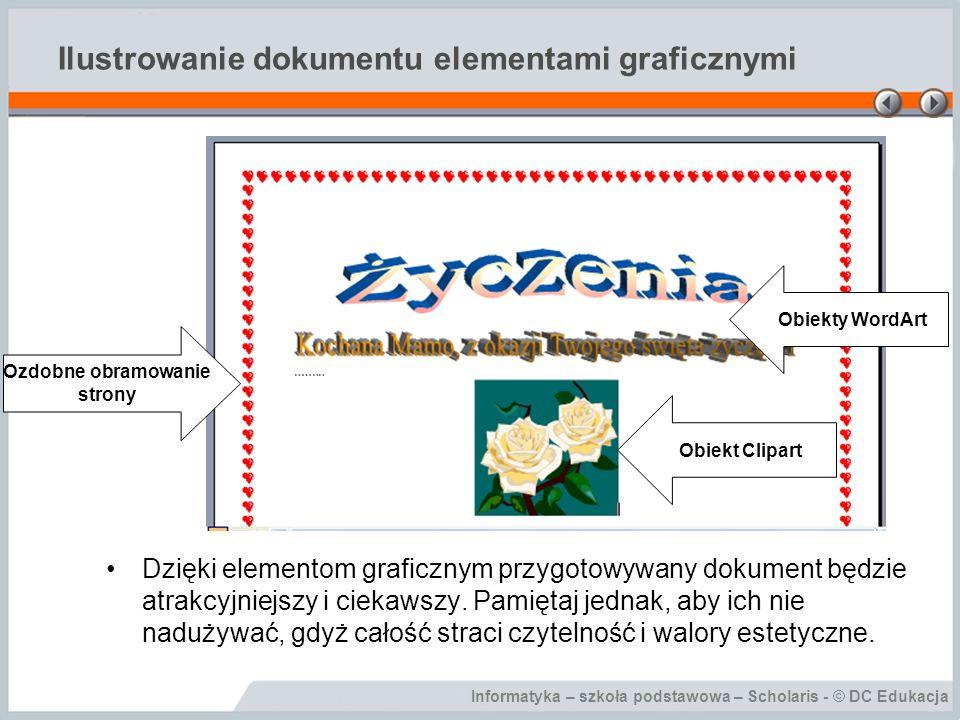 Ilustrowanie dokumentu elementami graficznymi