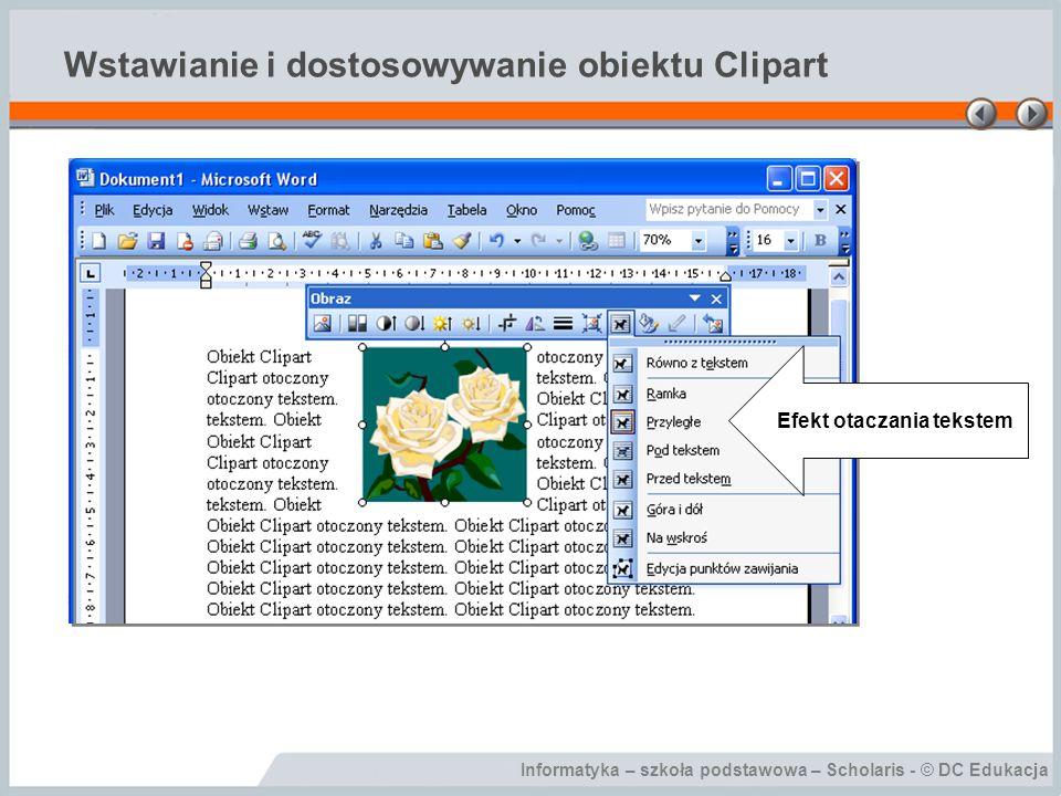 Wstawianie i dostosowywanie obiektu Clipart