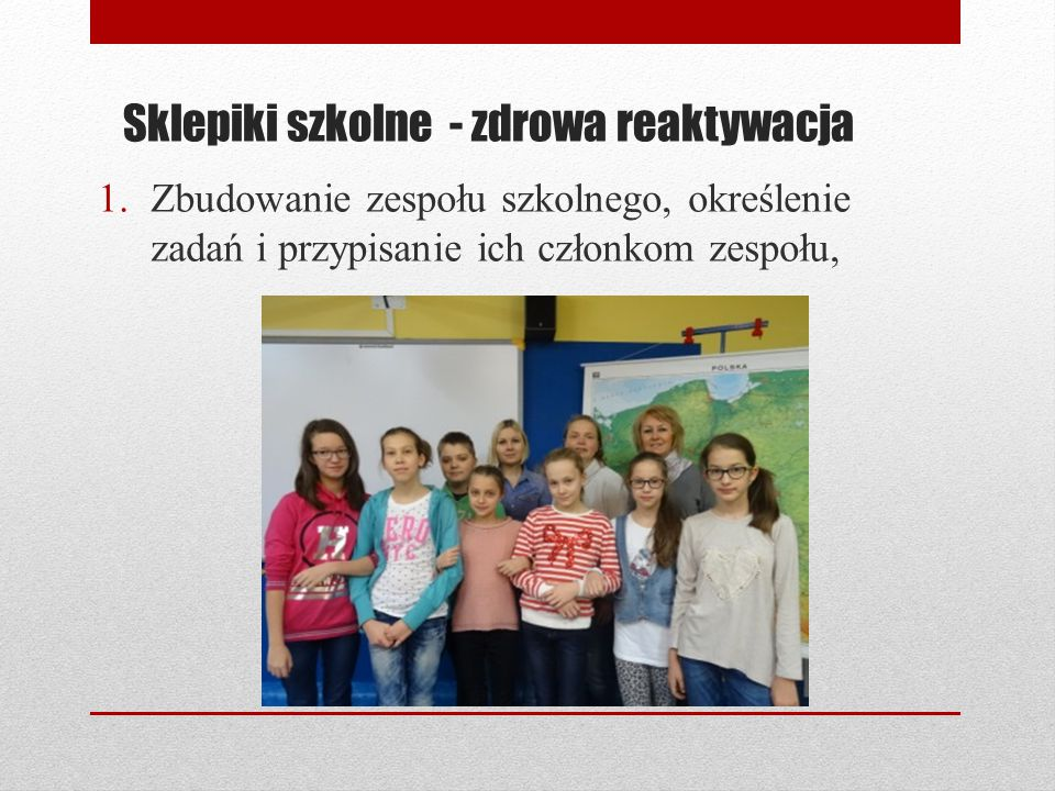 Sklepiki szkolne - zdrowa reaktywacja
