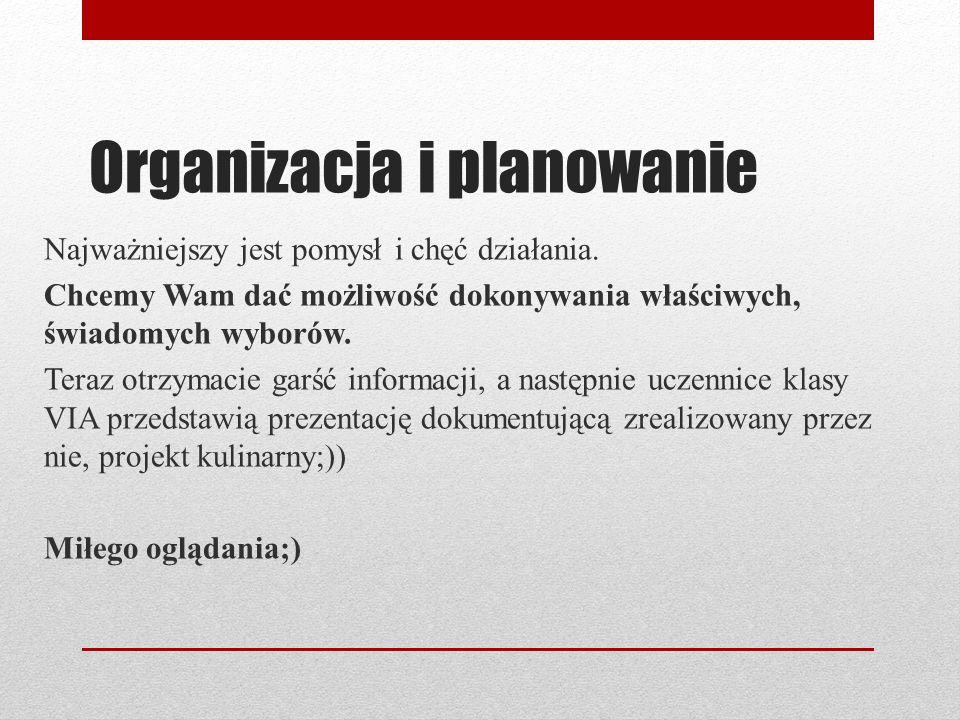 Organizacja i planowanie