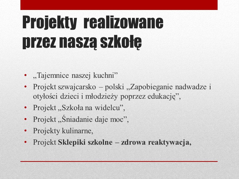 Projekty realizowane przez naszą szkołę