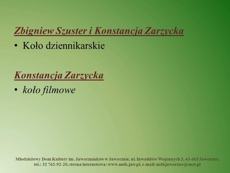 Zbigniew Szuster i Konstancja Zarzycka Koło dziennikarskie