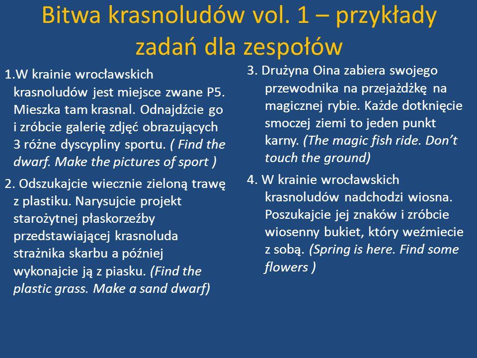 Bitwa krasnoludów vol. 1 – przykłady zadań dla zespołów