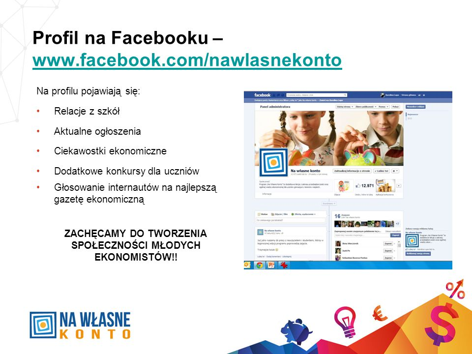 Profil na Facebooku – www.facebook.com/nawlasnekonto
