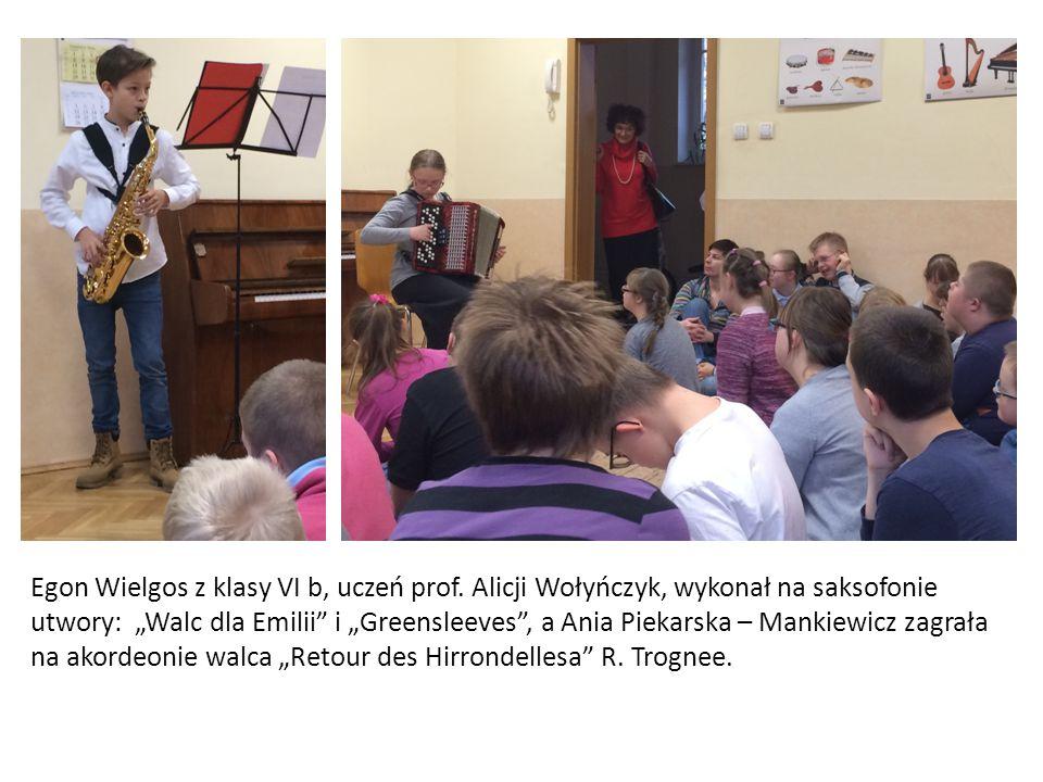 Egon Wielgos z klasy VI b, uczeń prof