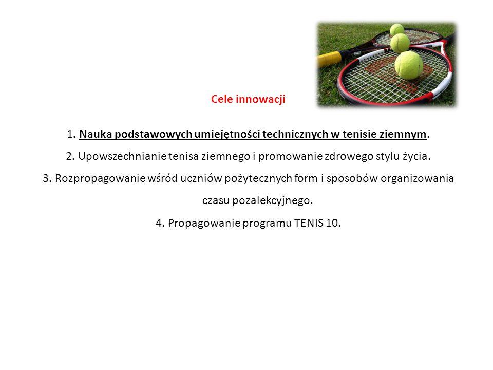 1. Nauka podstawowych umiejętności technicznych w tenisie ziemnym.