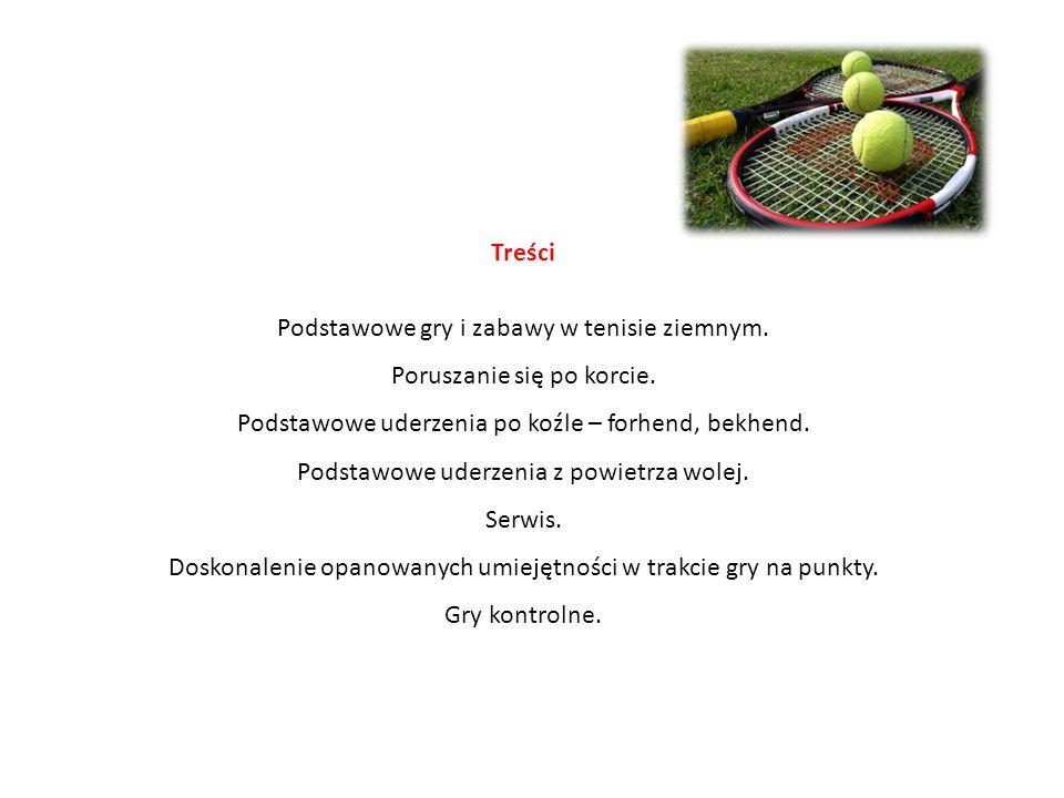 Podstawowe gry i zabawy w tenisie ziemnym. Poruszanie się po korcie.