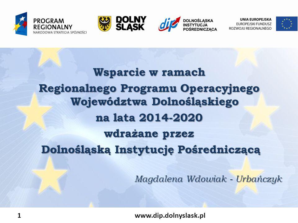 Regionalnego Programu Operacyjnego Województwa Dolnośląskiego