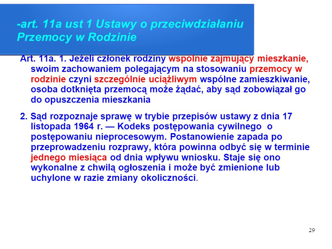 -art. 11a ust 1 Ustawy o przeciwdziałaniu Przemocy w Rodzinie
