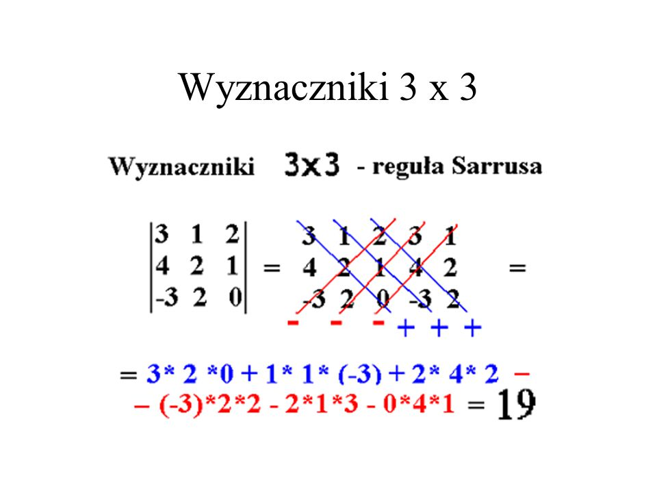 Wyznaczniki 3 x 3