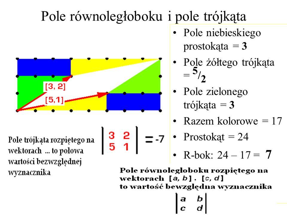 Pole równoległoboku i pole trójkąta