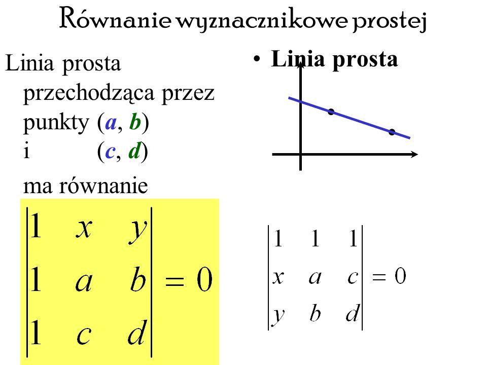 Równanie wyznacznikowe prostej