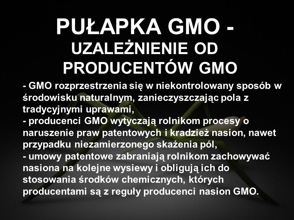 UZALEŻNIENIE OD PRODUCENTÓW GMO