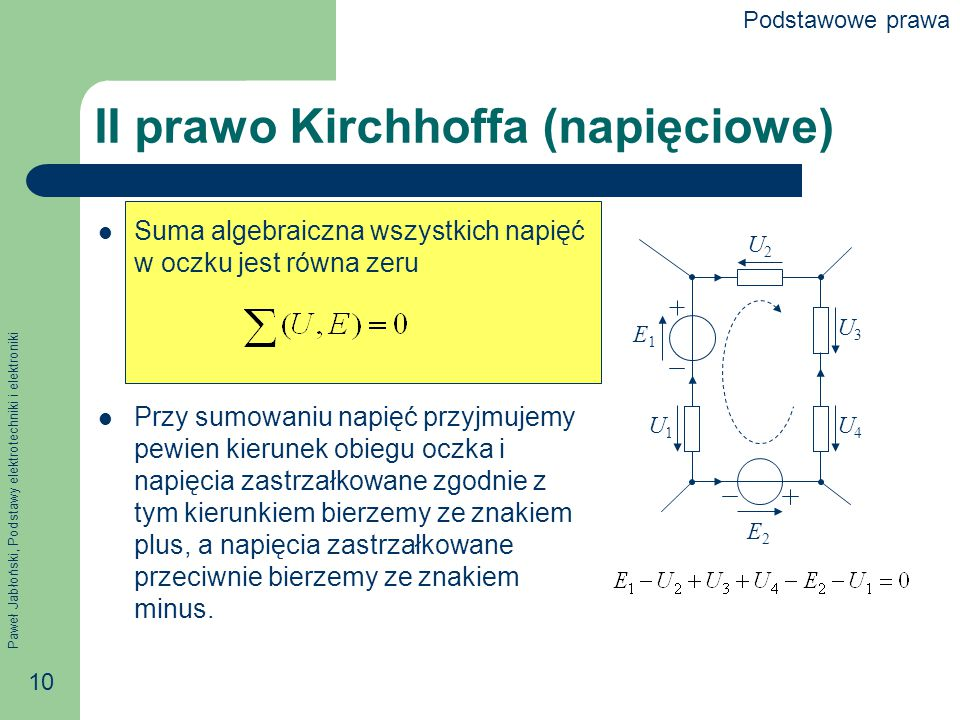 II prawo Kirchhoffa (napięciowe)