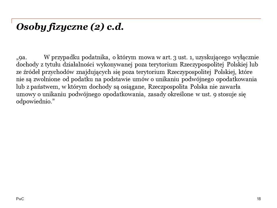 Osoby fizyczne (2) c.d.