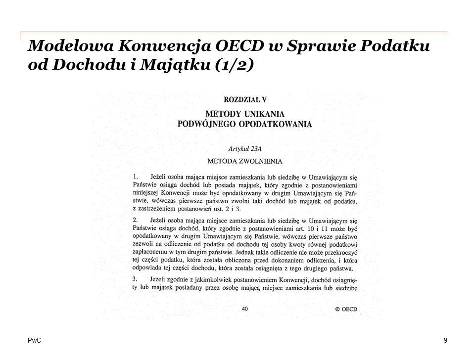 Modelowa Konwencja OECD w Sprawie Podatku od Dochodu i Majątku (1/2)