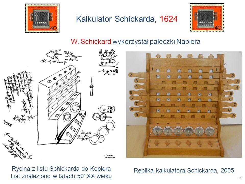 Kalkulator Schickarda, 1624