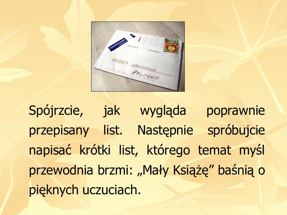 Spójrzcie, jak wygląda poprawnie przepisany list