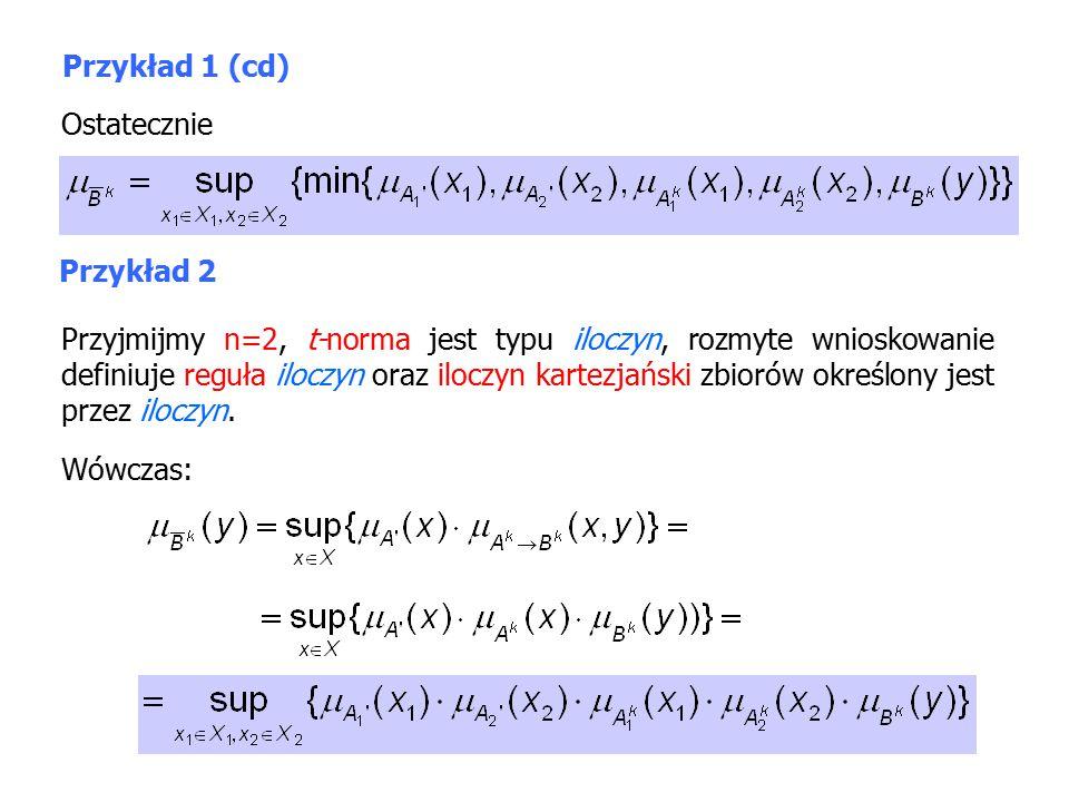 Przykład 1 (cd) Ostatecznie. Przykład 2.