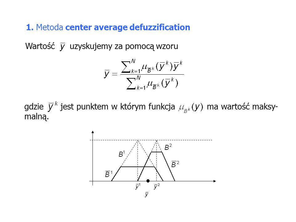 1. Metoda center average defuzzification