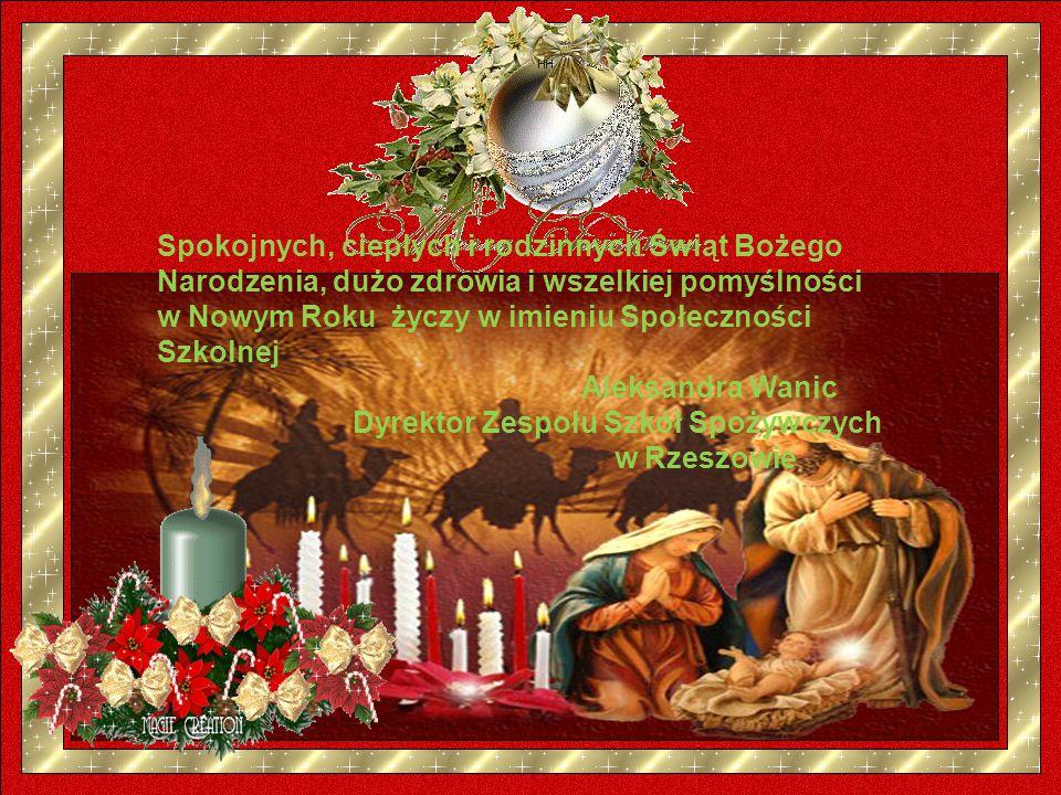 Spokojnych, ciepłych i rodzinnych Świąt Bożego Narodzenia, dużo zdrowia i wszelkiej pomyślności w Nowym Roku życzy w imieniu Społeczności Szkolnej