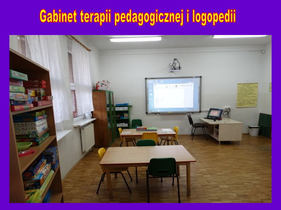 Gabinet terapii pedagogicznej i logopedii