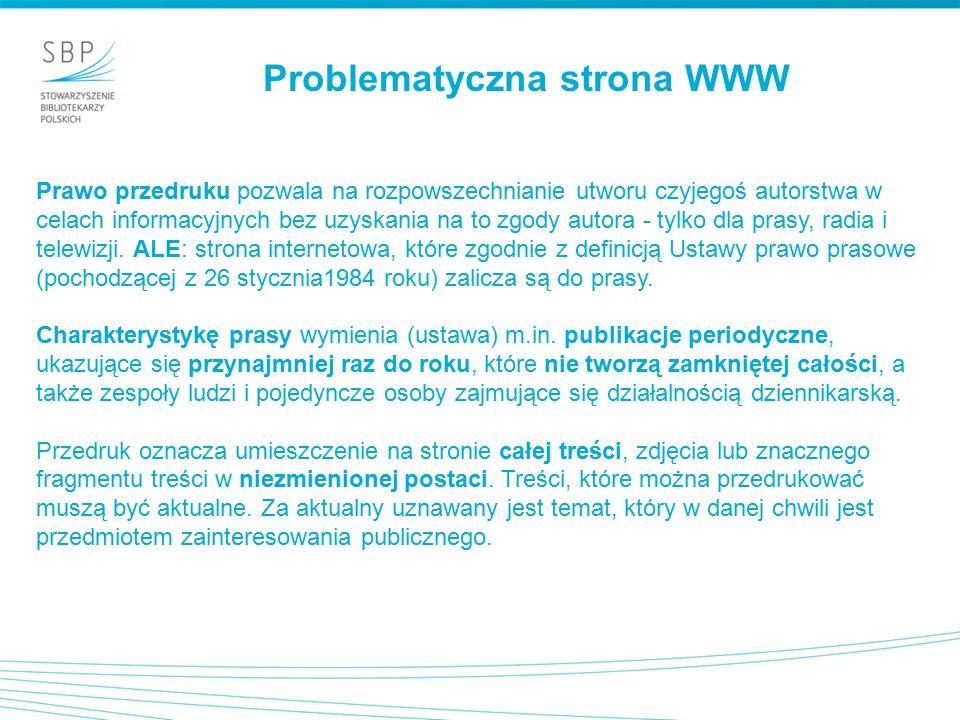 Problematyczna strona WWW