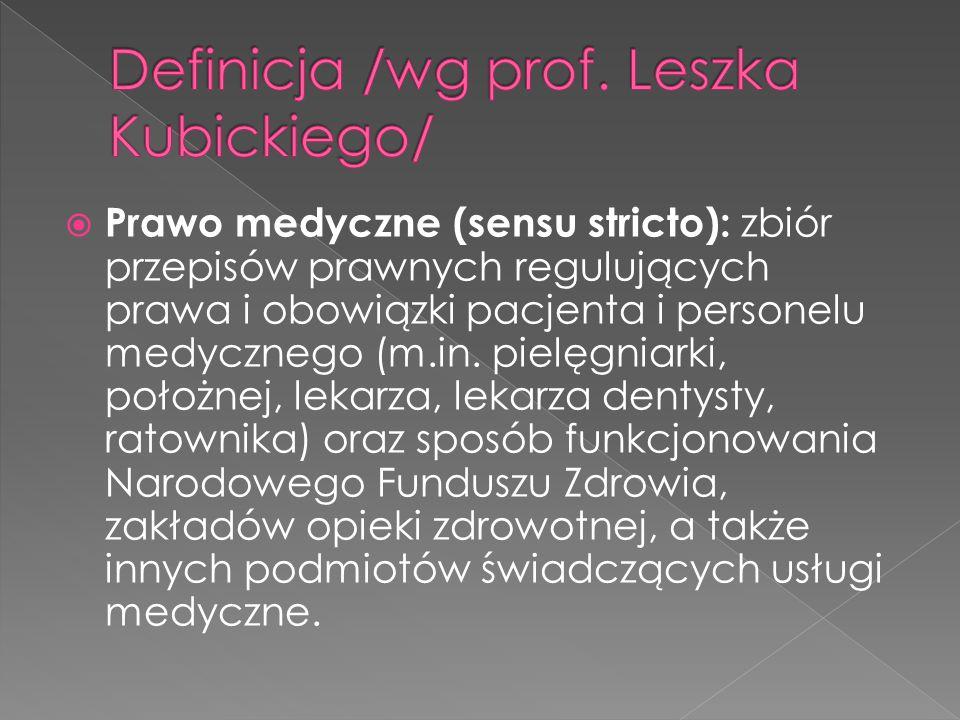 Definicja /wg prof. Leszka Kubickiego/