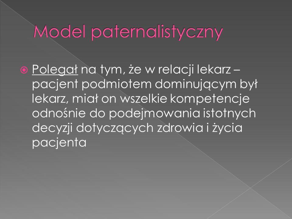 Model paternalistyczny