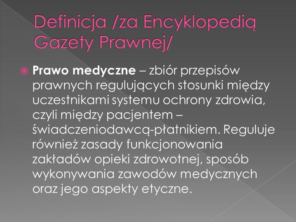 Definicja /za Encyklopedią Gazety Prawnej/