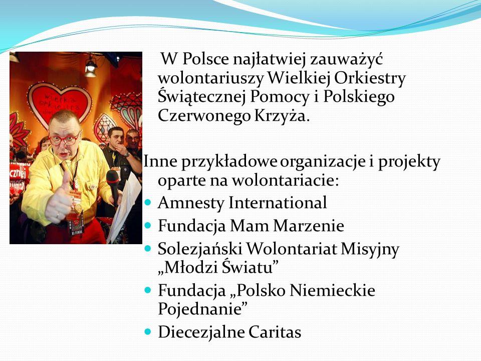 W Polsce najłatwiej zauważyć wolontariuszy Wielkiej Orkiestry Świątecznej Pomocy i Polskiego Czerwonego Krzyża.
