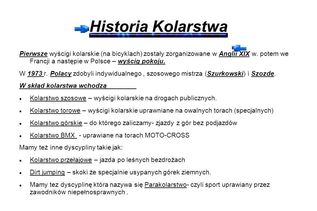 Historia Kolarstwa